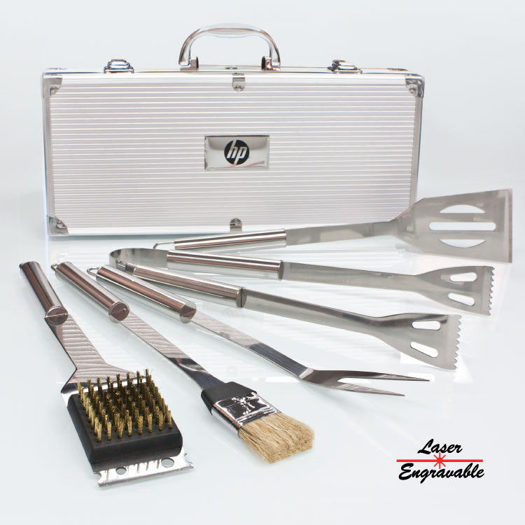 BBQ56 DELUXE 5 PC STAINLESS STEEL BBQ TOOL SET