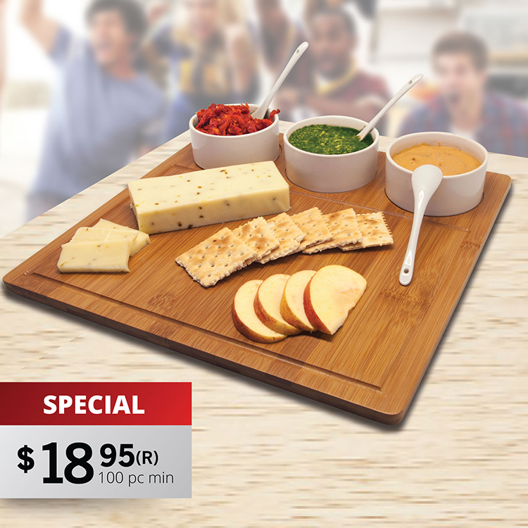 CB200 TRIO BAMBOO SERVING TRAY