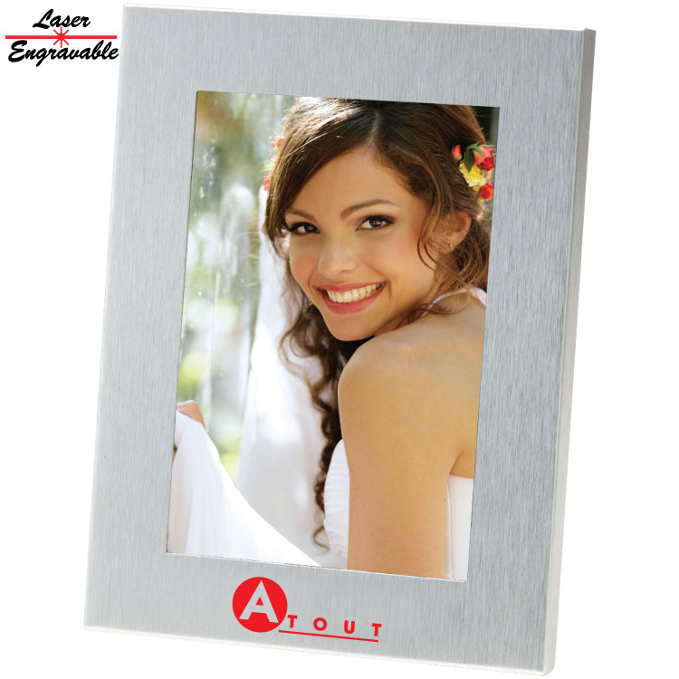 SS4X6 4X6 BRUSHED METAL PHOTO FRAME