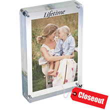 ZAC3X5<Br>CLOSEOUT<br>TWO SIDED MAGNETIC ACRYLIC FRAME