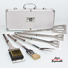 BBQ56<Br><br>DELUXE 5 PC STAINLESS STEEL BBQ TOOL SET