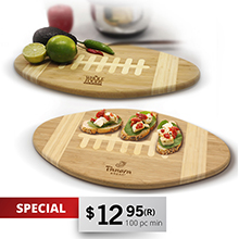 CB100<Br><br>FOOTBALL CUTTING BOARD & SERVING TRAY