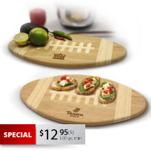 CB100 FOOTBALL CUTTING BOARD & SERVING TRAY