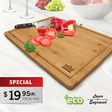 CB120<Br><br>DOMINICA BAMBOO CUTTING BOARD / SERVING TRAY