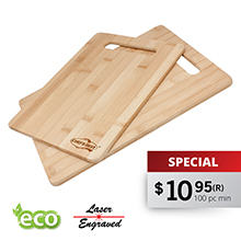 CB222 2 PC BAMBOO CUTTING BOARD SET