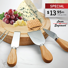 CS913 MADISON 5 PC CHEESE SET/CUTTING BOARD