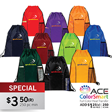 DB145 DUAL POCKET DRAWSTRING BAG