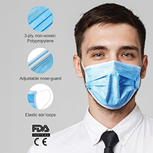 FM010<Br>IN STOCK READY TO SHIP<br>3-PLY DISPOSABLE FACE MASK