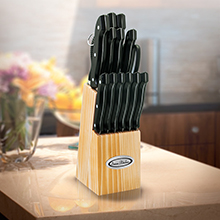 KB015<Br><br>15 PC KNIFE BLOCK SET