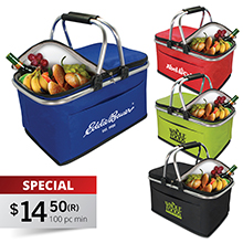 PB017<Br><br>COLLAPSIBLE INSULATED PICNIC BASKET