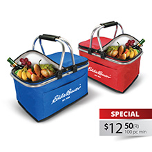 PB017 COLLAPSIBLE INSULATED PICNIC BASKET