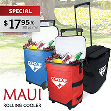 RC122 MAUI ROLLING COOLER
