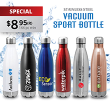 SM505 QUENCH - STAINLESS STEEL COLA BOTTLE
