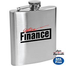 SM915<Br><br>LINCOLN - 6 OZ STAINLESS STEEL HIP FLASK
