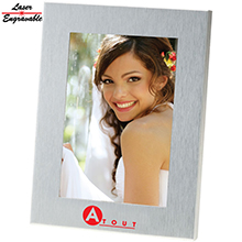 SS4X6<Br><br>4X6 BRUSHED METAL PHOTO FRAME