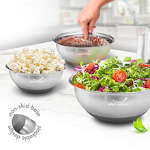 SSB03<Br>NEW ARRIVAL<br>3-pc Stainless Steel Mixing Bowl Set