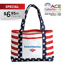 TB704 PATRIOTIC TOTE BAG