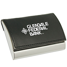 TL125<Br><br>LEATHERETTE BUSINESS CARD HOLDER