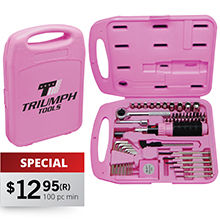 TS850P<Br><br>55 PC. TOOL SET