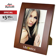 WF5X7 5X7 WALNUT FINISH PHOTO FRAME