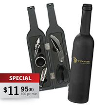 WS755 MAINZ - 5 PIECE WINE BOTTLE TOOL SET